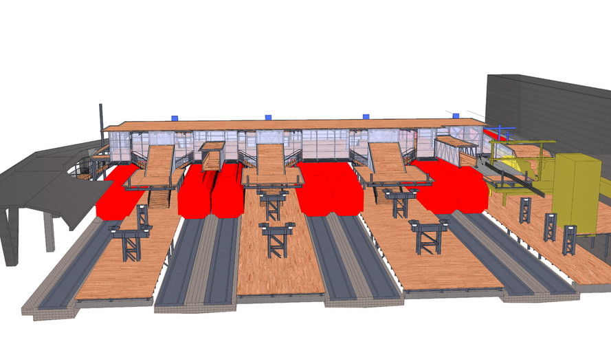 Passerelle Bahnhof Winterthur; 3D-Modell