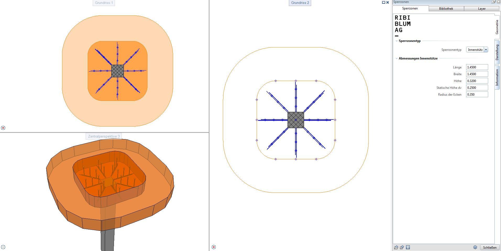 Modellierungstool für Sperrzonen
