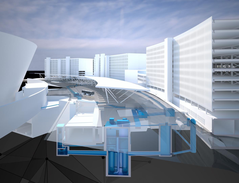Gesamtmodell Projekt ELP, Flughafen Zürich