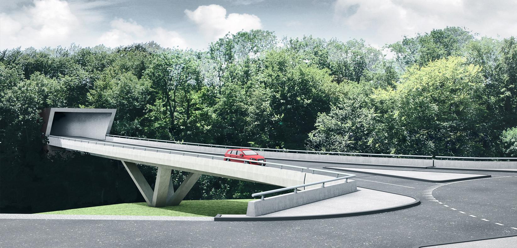 Visualisierung Bachtalbrücke