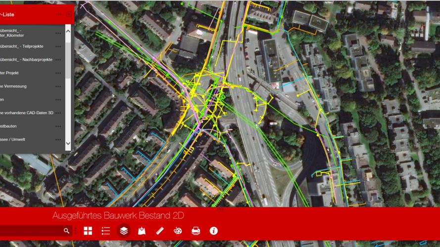 2D-Planungsdaten im Online-Viewer