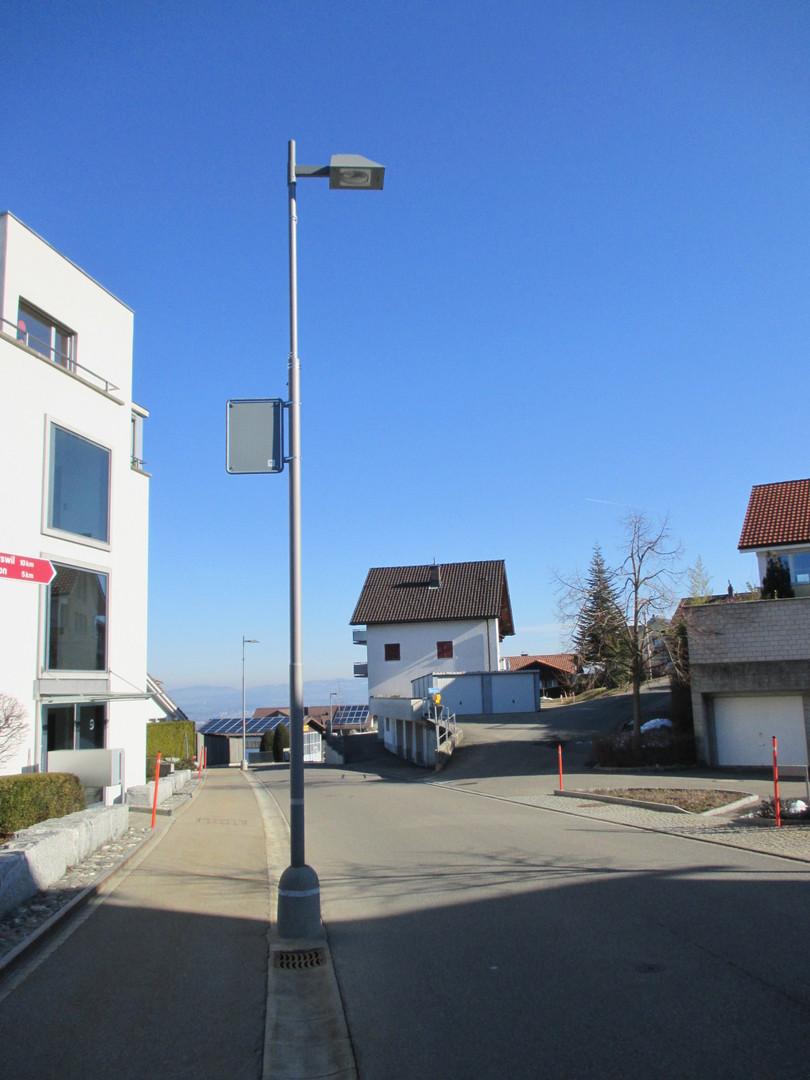 Dorfstrasse Feusisberg, aktuelle Strassenraumgestaltung