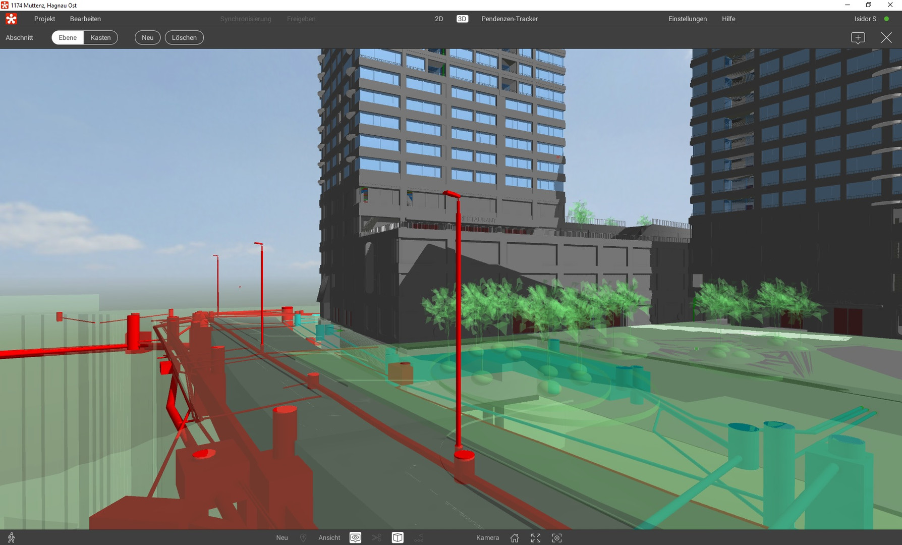 3D-Modell im Viewer, Projekt Hagnau Ost in Muttenz