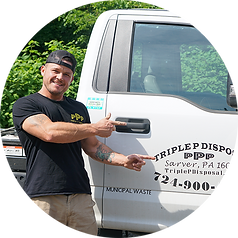 Owner and operator of Triple P Disposal at their headquartes in New Kensington, PA.