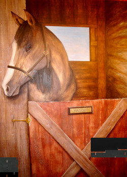 """Paige"" Mural on Wood"