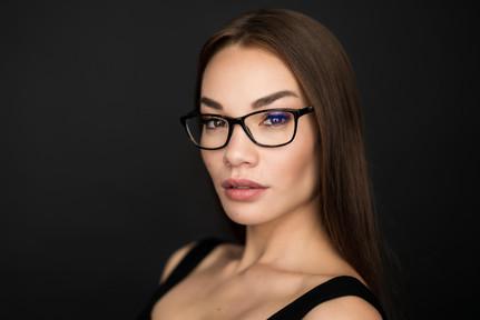 Portrait mit Brille