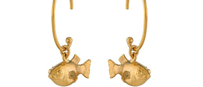 Pufferfish Hoop Earrings