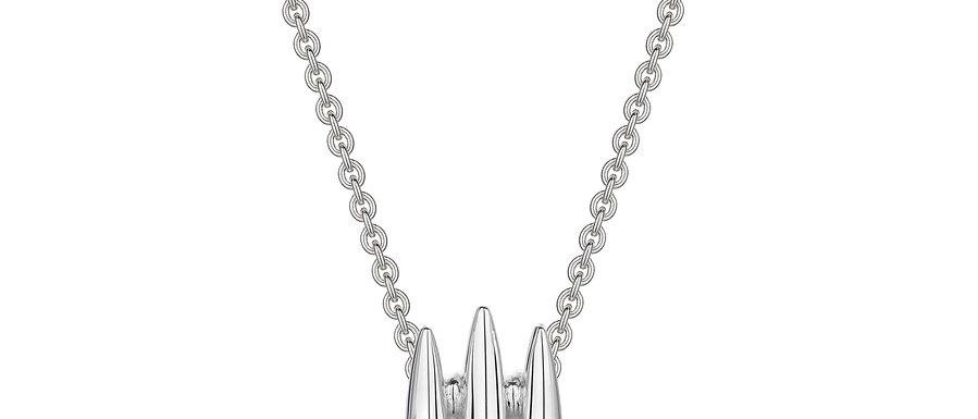 Men's Silver Arc Triple Necklace