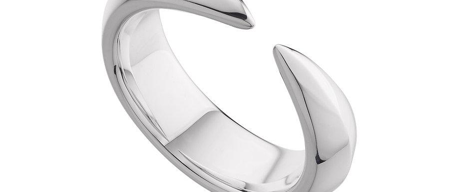 Men's Silver Arc Ring