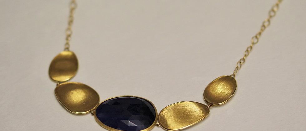 Lunaria Sapphire Necklace