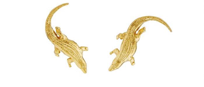 Crocodile Stud Earrings