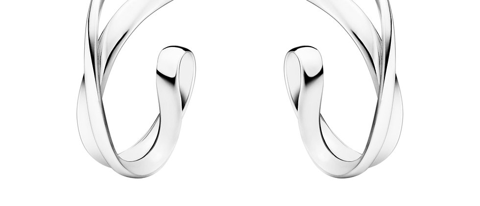 Infinity Small Silver Hoop Earrings