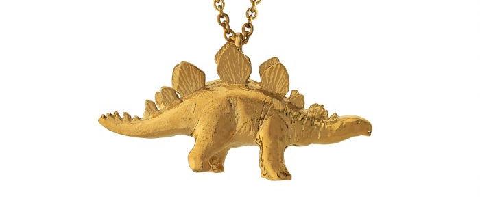 Stegosaurus Necklace Gold