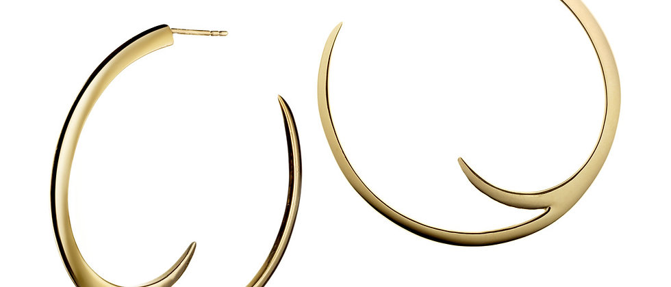 Yellow Gold Vermeil Cat Claw Statement Hoop Earrings