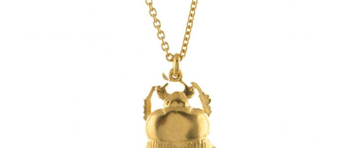 Dor Beetle Necklace Gold
