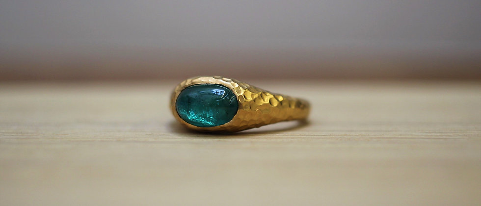 22ct Yellow Gold Emerald Ring