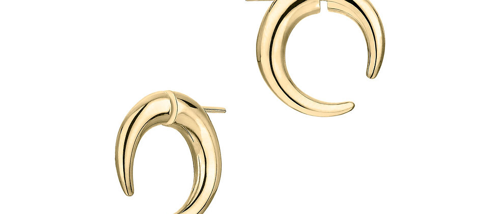Yellow Gold Vermeil Quill Small Hoop Earrings