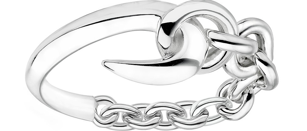 Silver Hook Chain Ring