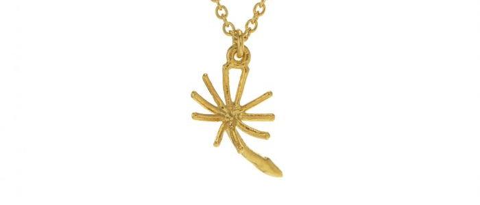 Dandelion Fluff Necklace Gold