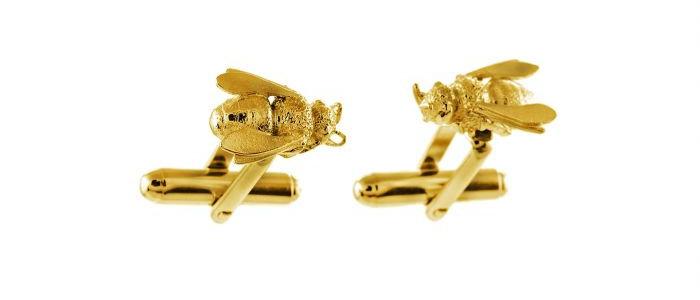 Honey Bee Cufflinks Gold