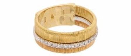 Masai White & Yellow Gold Diamond Ring 0.13ct