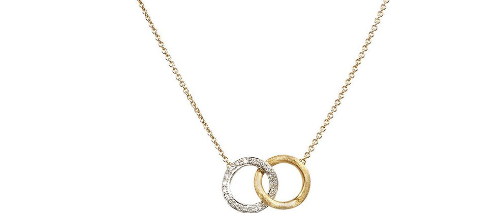 Delicati Diamond Link Circle Pendant