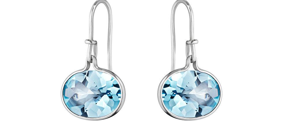 Savannah Earrings Blue Topaz