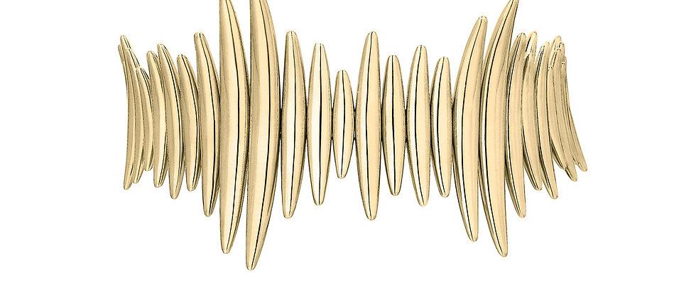 Yellow Gold Vermeil Quill Bracelet