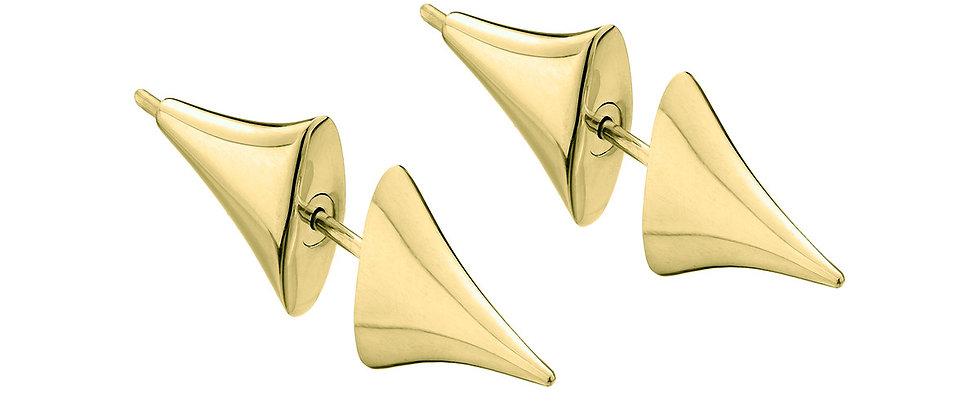 Yellow Gold Vermeil Rose Thorn Bar Earrings