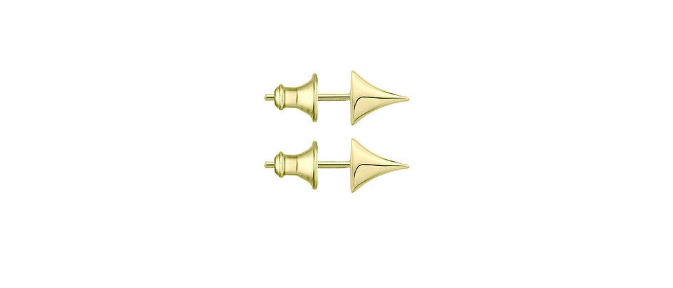 Yellow Gold Vermeil Rose Thorn Stud Earrings