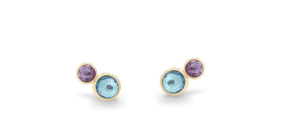 Jaipur Blue Topaz & Amethyst Earrings