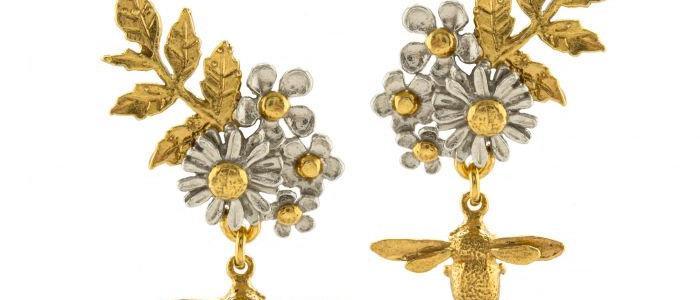 Posy Bloom Bee Earrings