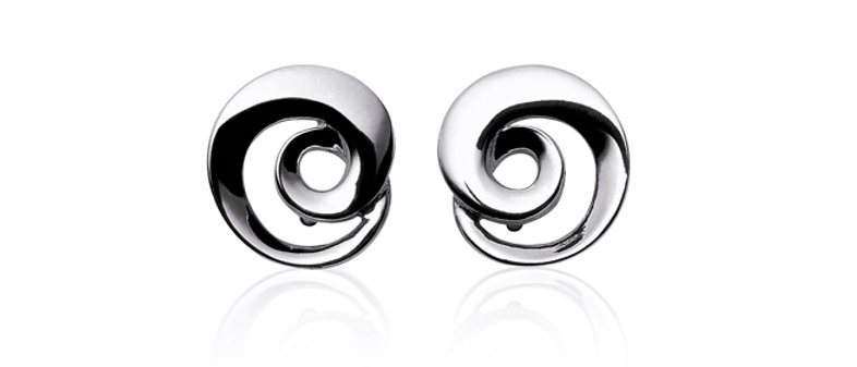 Möbius Silver Stud Earrings