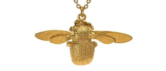 Bumblebee Necklace Gold