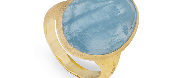 Lunaria Aquamarine Ring