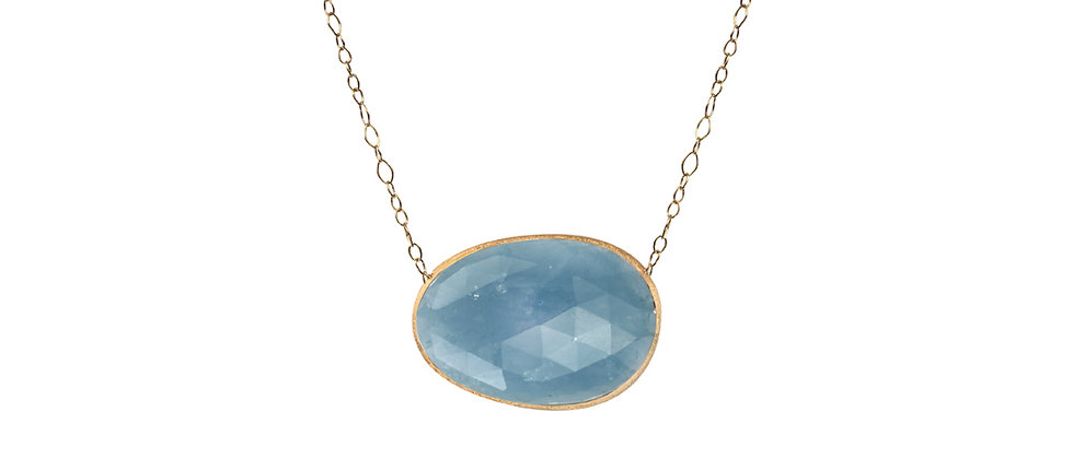 Lunaria Aquamarine Necklace