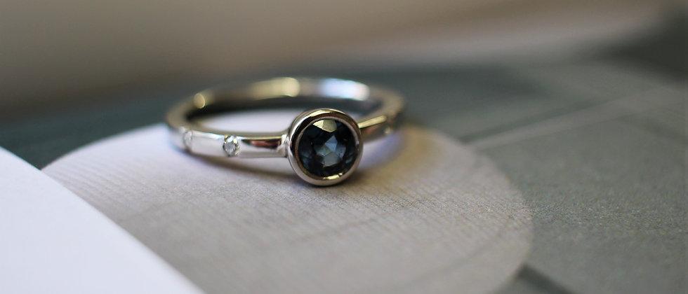 Platinum Australian Sapphire & Diamond