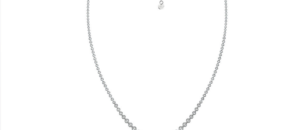 Silver Drop Hook Necklace