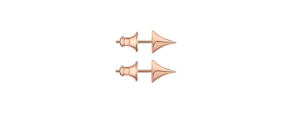 Rose Gold Vermeil Rose Thorn Stud Earrings