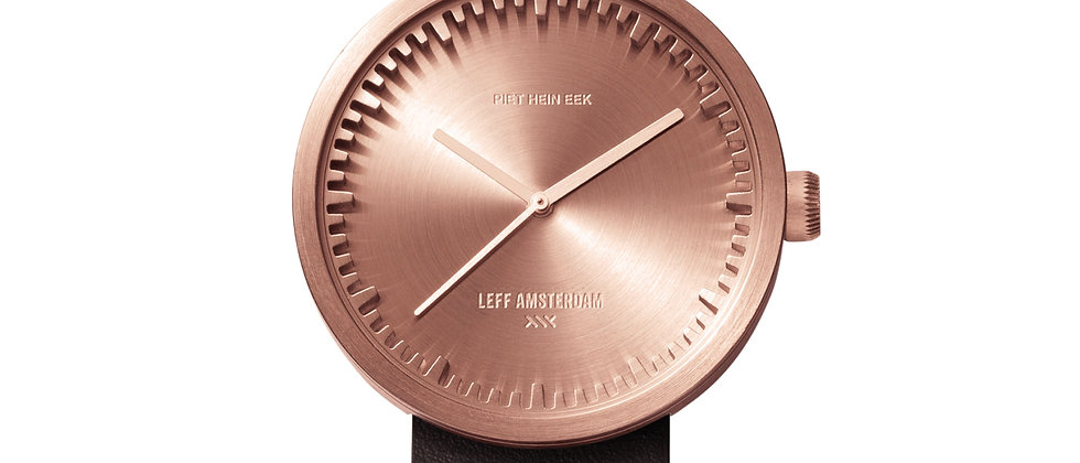 D38 Rose Gold Brown Leather