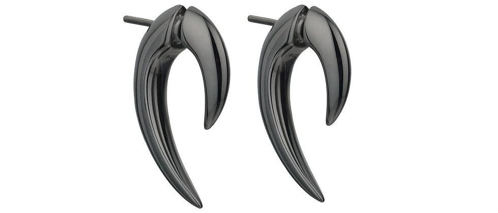 Silver Black Rhodium Talon Earrings