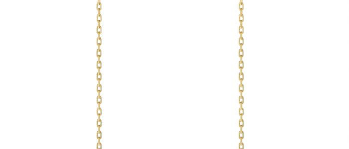 Diamond Stud Earrings with Fine Bee Chain Drops