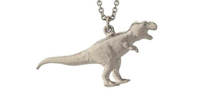 Tyrannosaurus Rex Necklace Silver