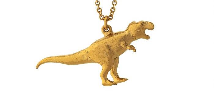 Tyrannosaurus Rex Necklace Gold