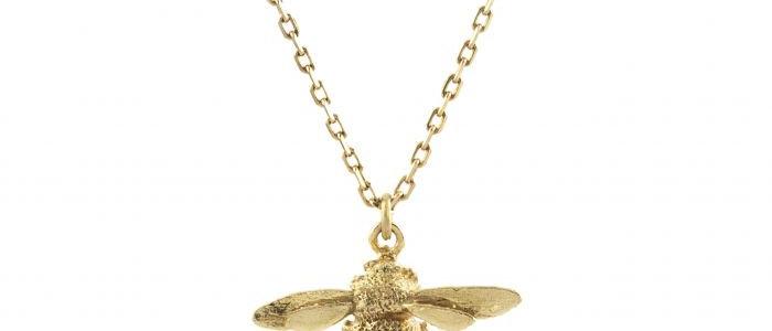 Teeny Tiny Bumblebee Necklace