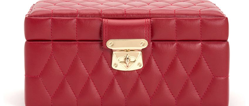 Caroline Small Jewellery Case Red