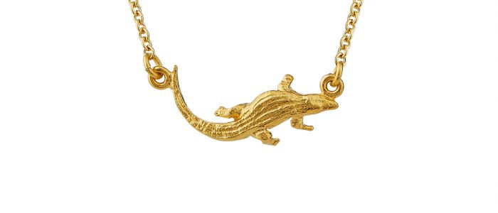 In-Line Crocodile Necklace