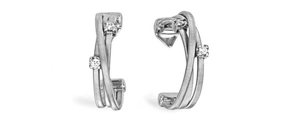 Goa 3-Strand Diamond Earrings 0.12ct