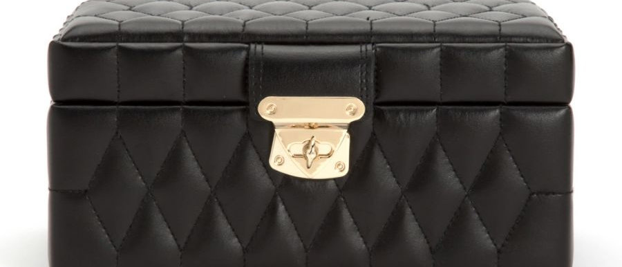 Caroline Small Jewellery Case Black