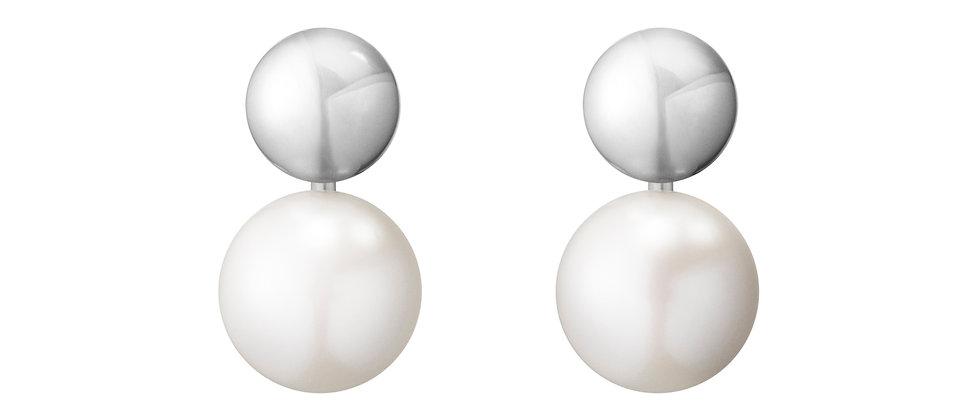 Moonlight Grape Pearl Earrings